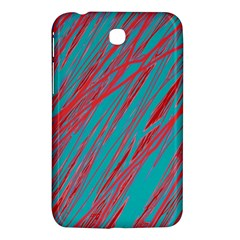 Red And Blue Pattern Samsung Galaxy Tab 3 (7 ) P3200 Hardshell Case  by Valentinaart