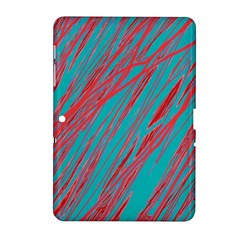 Red And Blue Pattern Samsung Galaxy Tab 2 (10 1 ) P5100 Hardshell Case  by Valentinaart