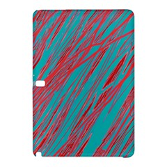Red And Blue Pattern Samsung Galaxy Tab Pro 10 1 Hardshell Case by Valentinaart