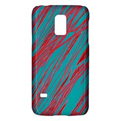 Red And Blue Pattern Galaxy S5 Mini by Valentinaart