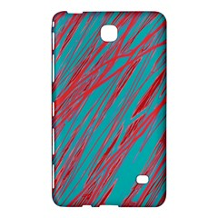 Red And Blue Pattern Samsung Galaxy Tab 4 (8 ) Hardshell Case  by Valentinaart