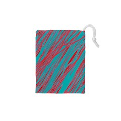 Red And Blue Pattern Drawstring Pouches (xs)  by Valentinaart