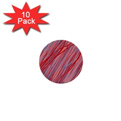 Pink And Red Decorative Pattern 1  Mini Buttons (10 Pack)  by Valentinaart