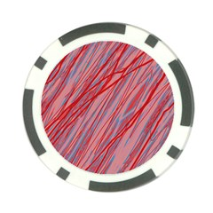 Pink And Red Decorative Pattern Poker Chip Card Guards by Valentinaart