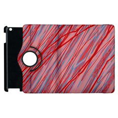 Pink And Red Decorative Pattern Apple Ipad 2 Flip 360 Case by Valentinaart