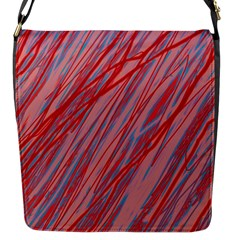 Pink And Red Decorative Pattern Flap Messenger Bag (s)