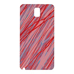 Pink And Red Decorative Pattern Samsung Galaxy Note 3 N9005 Hardshell Back Case by Valentinaart