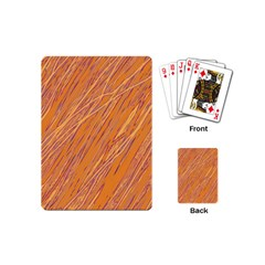 Orange Pattern Playing Cards (mini)  by Valentinaart