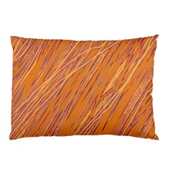 Orange Pattern Pillow Case (two Sides) by Valentinaart