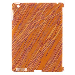 Orange Pattern Apple Ipad 3/4 Hardshell Case (compatible With Smart Cover) by Valentinaart