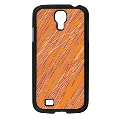 Orange Pattern Samsung Galaxy S4 I9500/ I9505 Case (black) by Valentinaart