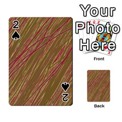 Brown Elegant Pattern Playing Cards 54 Designs  by Valentinaart