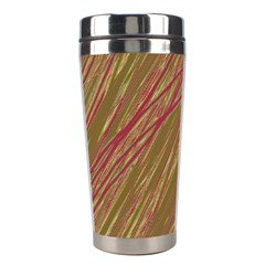 Brown Elegant Pattern Stainless Steel Travel Tumblers by Valentinaart
