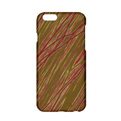 Brown Elegant Pattern Apple Iphone 6/6s Hardshell Case by Valentinaart