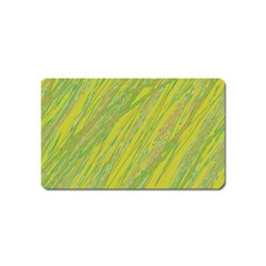Green And Yellow Van Gogh Pattern Magnet (name Card) by Valentinaart