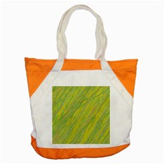 Green And Yellow Van Gogh Pattern Accent Tote Bag by Valentinaart