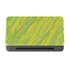 Green And Yellow Van Gogh Pattern Memory Card Reader With Cf by Valentinaart