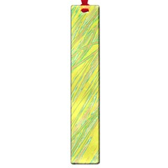 Green And Yellow Van Gogh Pattern Large Book Marks by Valentinaart