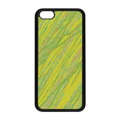 Green And Yellow Van Gogh Pattern Apple Iphone 5c Seamless Case (black) by Valentinaart