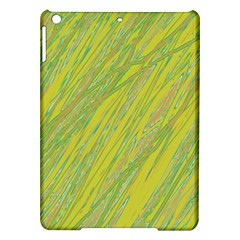 Green And Yellow Van Gogh Pattern Ipad Air Hardshell Cases by Valentinaart