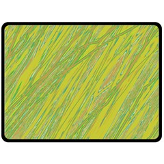 Green And Yellow Van Gogh Pattern Double Sided Fleece Blanket (large)  by Valentinaart