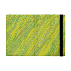 Green And Yellow Van Gogh Pattern Ipad Mini 2 Flip Cases by Valentinaart