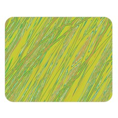 Green And Yellow Van Gogh Pattern Double Sided Flano Blanket (large)  by Valentinaart