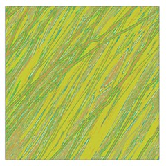 Green And Yellow Van Gogh Pattern Large Satin Scarf (square) by Valentinaart