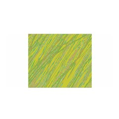 Green And Yellow Van Gogh Pattern Satin Wrap by Valentinaart