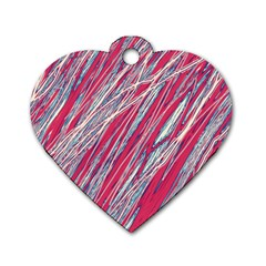 Purple Decorative Pattern Dog Tag Heart (two Sides) by Valentinaart