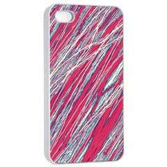 Purple Decorative Pattern Apple Iphone 4/4s Seamless Case (white) by Valentinaart