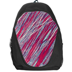 Purple Decorative Pattern Backpack Bag by Valentinaart