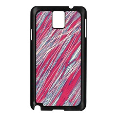 Purple Decorative Pattern Samsung Galaxy Note 3 N9005 Case (black) by Valentinaart