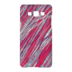 Purple Decorative Pattern Samsung Galaxy A5 Hardshell Case  by Valentinaart
