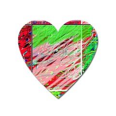 Colorful Pattern Heart Magnet by Valentinaart