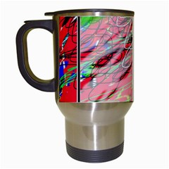 Colorful Pattern Travel Mugs (white) by Valentinaart