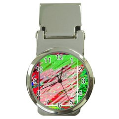 Colorful Pattern Money Clip Watches