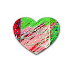 Colorful Pattern Heart Coaster (4 Pack)  by Valentinaart