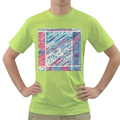 Colorful Pattern Green T Shirt by Valentinaart