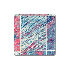 Colorful Pattern Square Magnet by Valentinaart