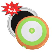 Green And Orange Design 2 25  Magnets (100 Pack)  by Valentinaart