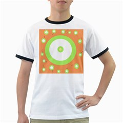 Green And Orange Design Ringer T-shirts by Valentinaart