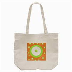 Green And Orange Design Tote Bag (cream) by Valentinaart