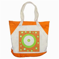 Green And Orange Design Accent Tote Bag by Valentinaart