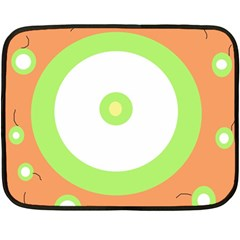 Green And Orange Design Double Sided Fleece Blanket (mini)  by Valentinaart