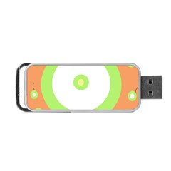 Green And Orange Design Portable Usb Flash (two Sides) by Valentinaart