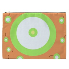 Green And Orange Design Cosmetic Bag (xxl)  by Valentinaart