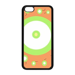 Green And Orange Design Apple Iphone 5c Seamless Case (black) by Valentinaart