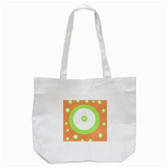 Green And Orange Design Tote Bag (white) by Valentinaart