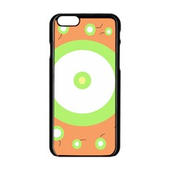 Green And Orange Design Apple Iphone 6/6s Black Enamel Case